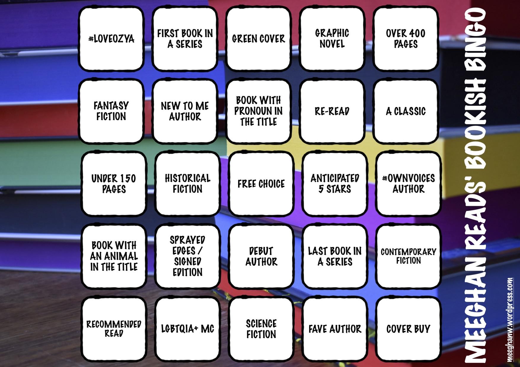 my bookish bingo