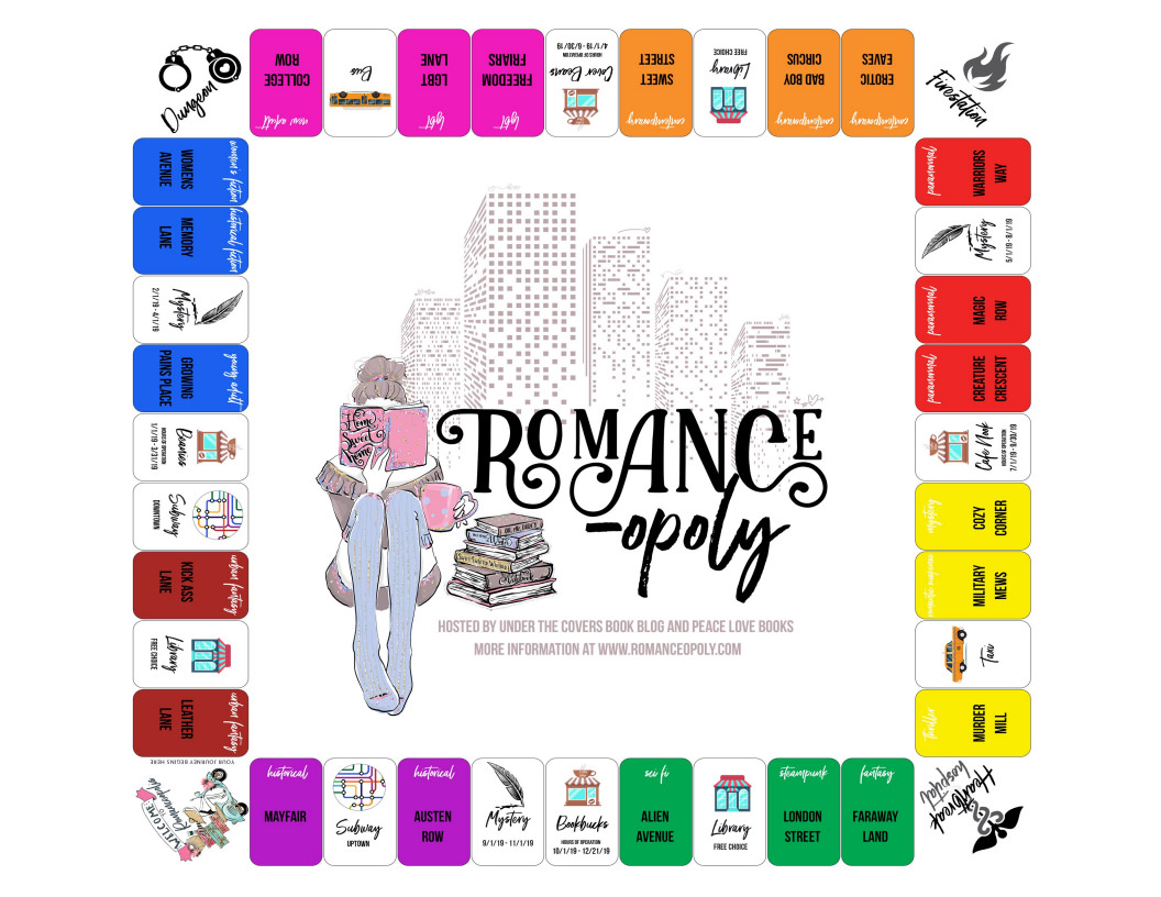 Romance-opoly board game with prompts