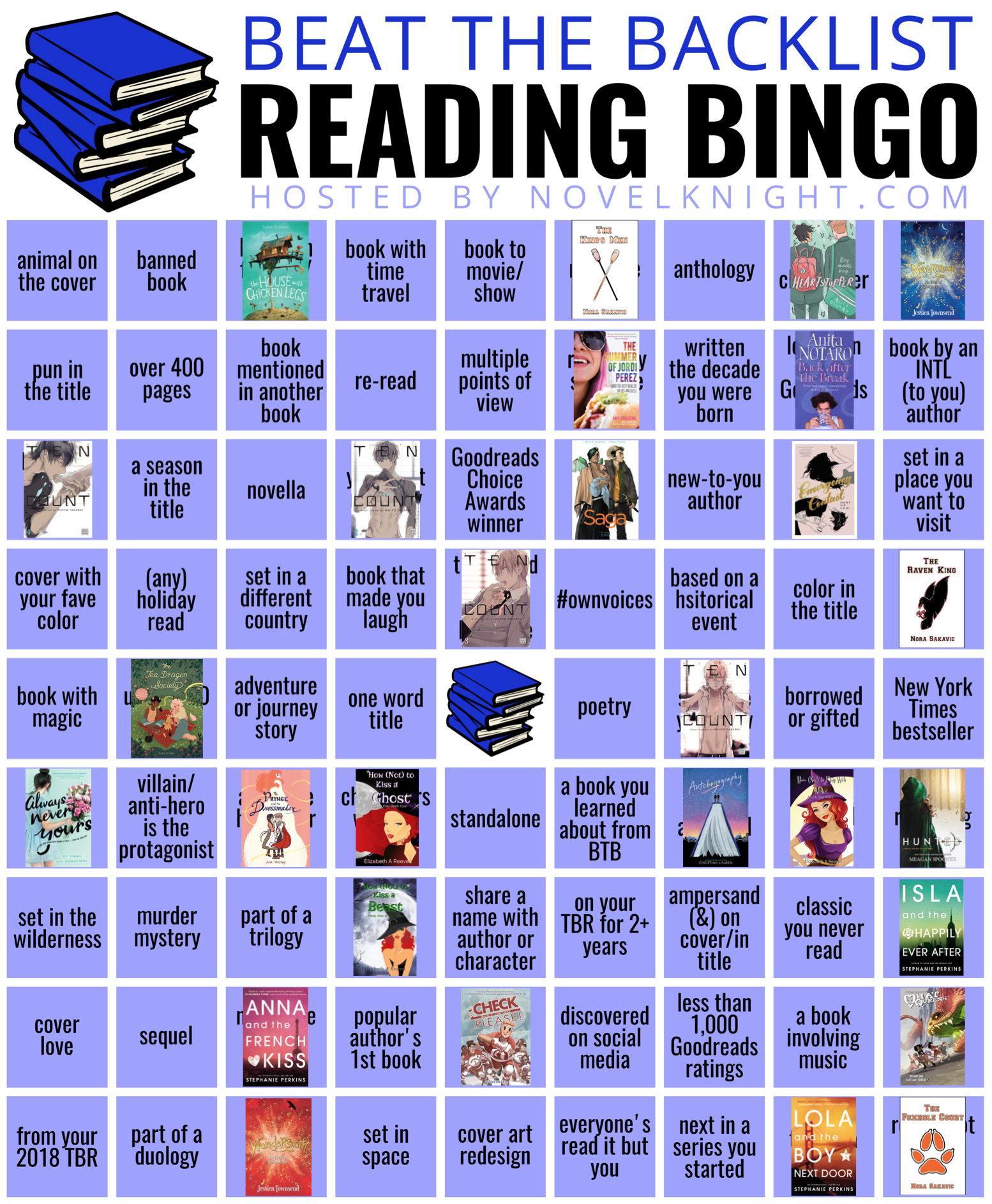 Beat the Backlist Epic Bingo March progress. 28 out of 81 squares marked complete.